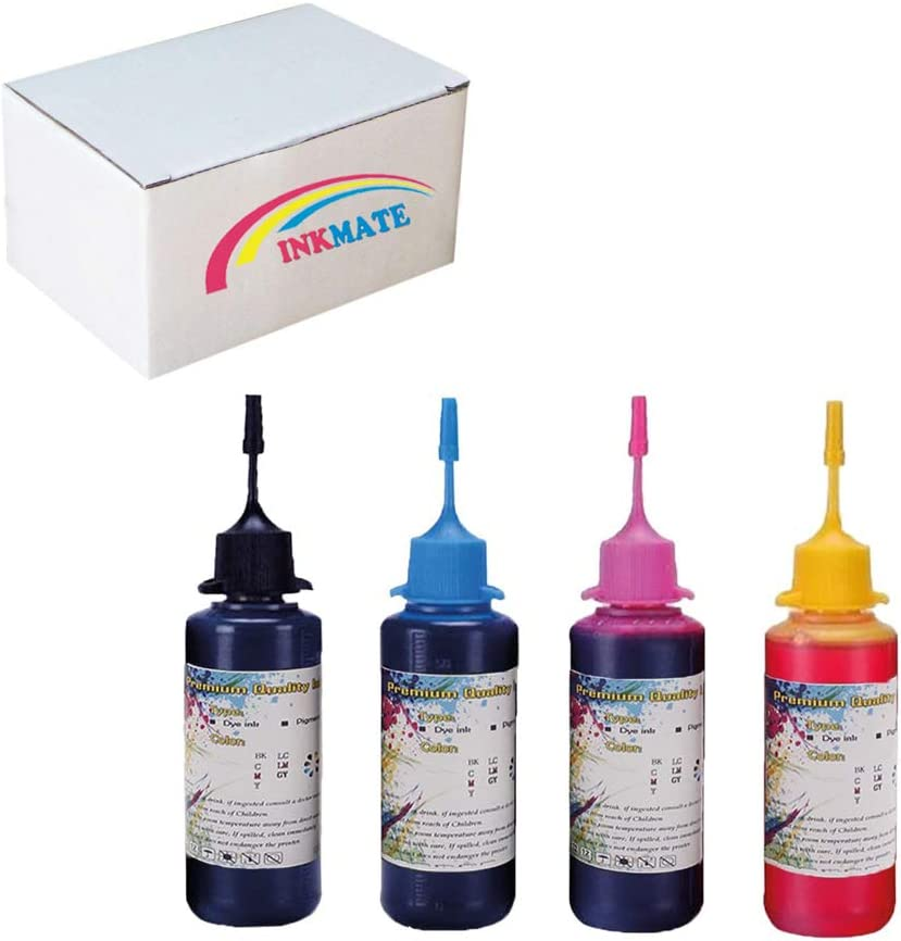 INKMATE Refilled Ink Kit Replacement for HP 60 61 62 63 21 22 92 94 95 96 97 564 901 902 920 932 933 934 940 950 951 952 970 971 Inkjet Printer Cartridges (1BK/1C/1Y/1M,4 x 50ML 4Pack)