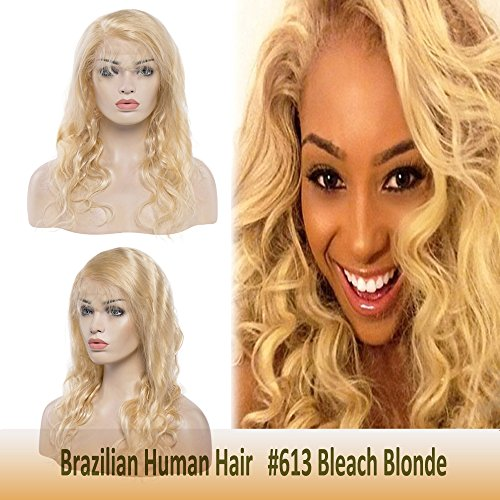 Virgin Human Hair Lace Front Blonde Wig 18