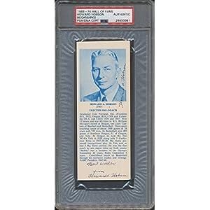 1968 74 Hof Bookmarks Howard Hobson PSA/DNA Certified Certified Certified Autographed *3981