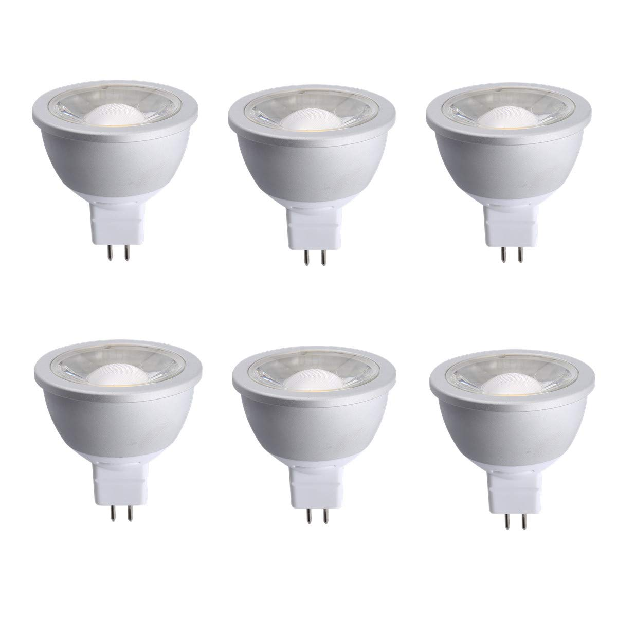 (Pack of 6) NICKLED 7W MR16 Led Bulb, Dimmable, 50W Halogen Bulbs Equivalent, MR16 LED Recessed Spotlight with GU5.3 Base, 630lm, Compatible with 98% Electronic Transformer (6, 5000K-Natural White)