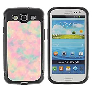 KROKK CASE Samsung Galaxy S3 I9300 - hippie abstract psychedelic tie dye - Rugged Armor Slim Protection Case Cover Shell