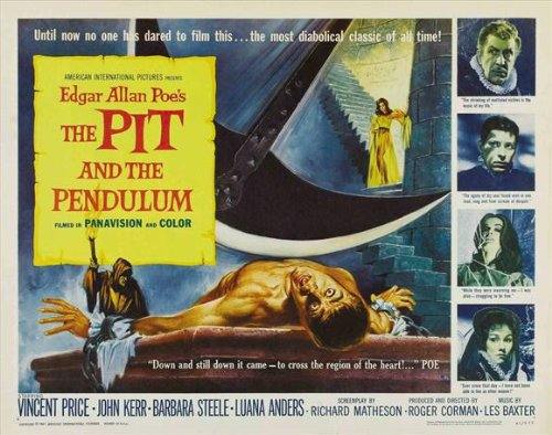 The Pit and the Pendulum Poster Movie B 11x17 Vincent Price John Kerr Barbara Steele Luana Anders