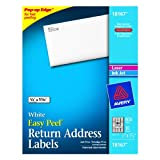 Avery Return Address Labels for Laser and Inkjet Printers, 0.5 x 1.75 Inches, Pack of 800 (18167), Office Central