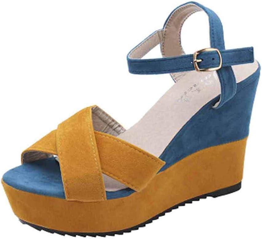 Luckycat Calzado Chancletas Tacones Zapatos de Cuñas de