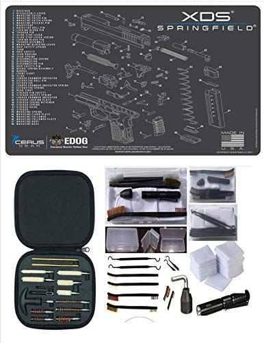 EDOG Springfield Armory XDs CERUS Gear Schematic (Exploded View) Promat with Range Warrior Universal 27 PC Field and Bench Cleaning Essentials Kit