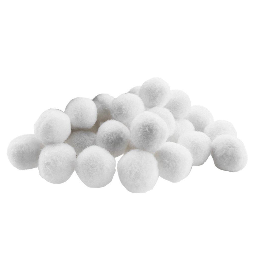 Gazechimp Set De 100 Pcs Pompons Couleurs Vibrantes Pompons De Petits M/étiers Moelleux blanc
