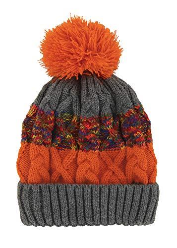 Britt's Knits Kids' Little Bitties Children's Hat, Charcoal/Orange, One Size ()