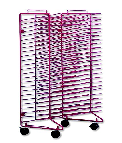 Sax Stack-a-Rack Modular Mobile Drying Rack - 17 x 21 x 30 inches - Red (Mobile Single Tables Shelf)