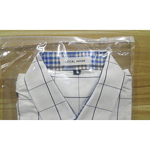 LOCALMODE-Mens-100-Cotton-Long-Sleeve-Plaid-Slim-Fit-Button-Down-Dress-Shirt