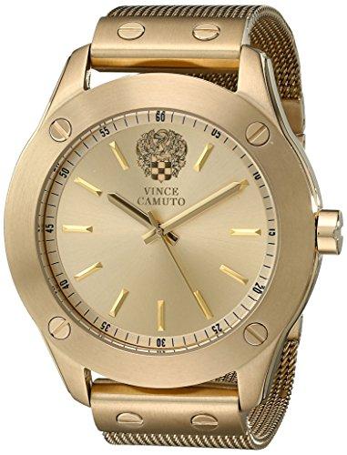 Vince Camuto Women's VC/5224CHGB Gold-Tone Mesh Bracelet Watch