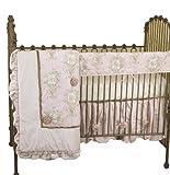 Cotton Tale Designs Front Crib Rail Cover Up Set, Lollipops & Roses