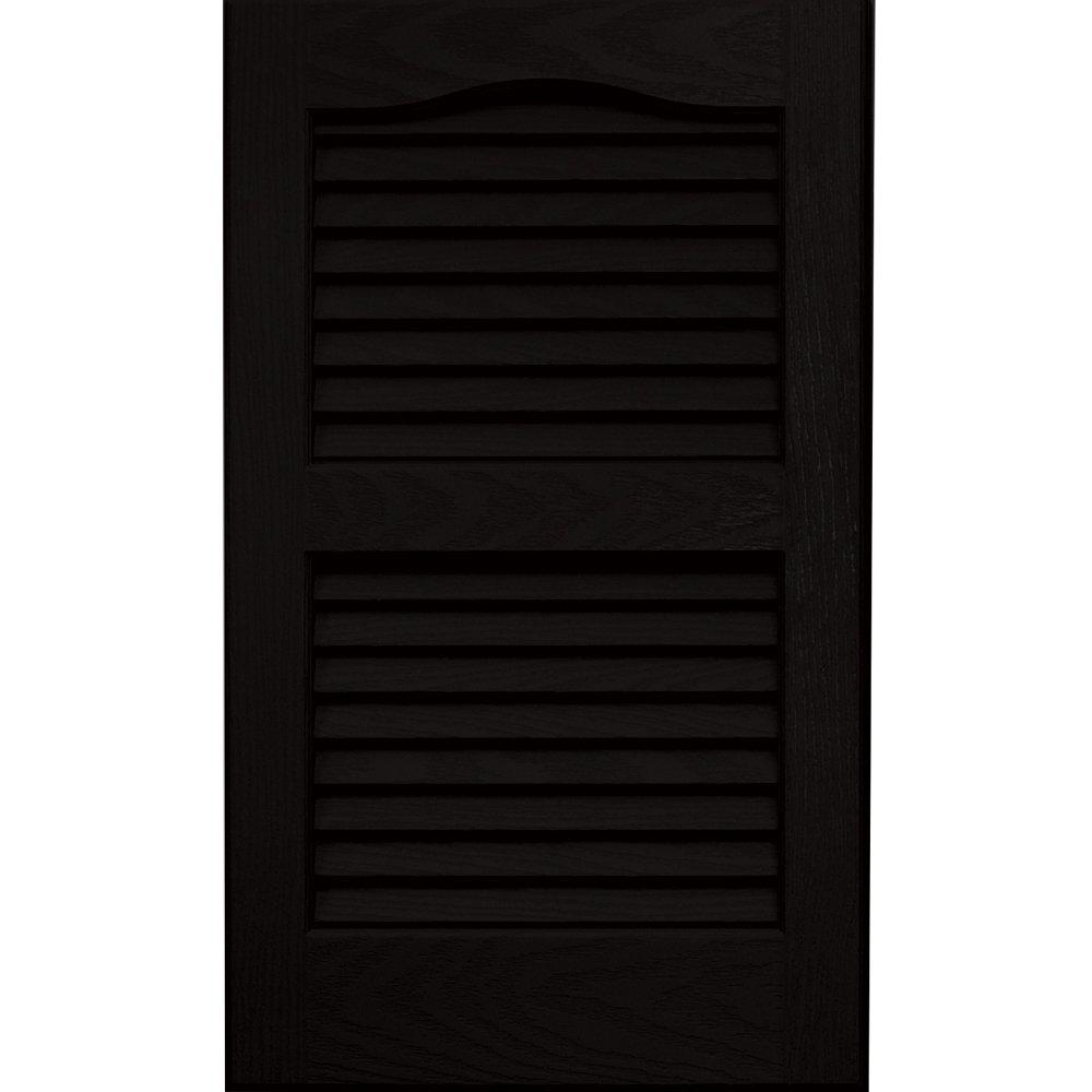 Vantage 0114024002 14X24 Louver Arch Shutter/Pair 002, Black