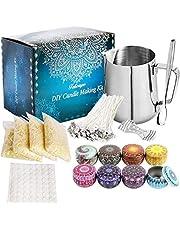 Vosinrly Candle Making Kit,Candle Beginners DIY Starter Set om grote geurkaars te maken met Soja Wax, Gieten Pitcher Kaarsen Kunst en Craft Supplies