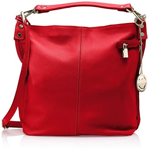 a Chicca Cbc34012tar Donna rosso Rosso borse Borse e spalla Shoppers T1wZTq