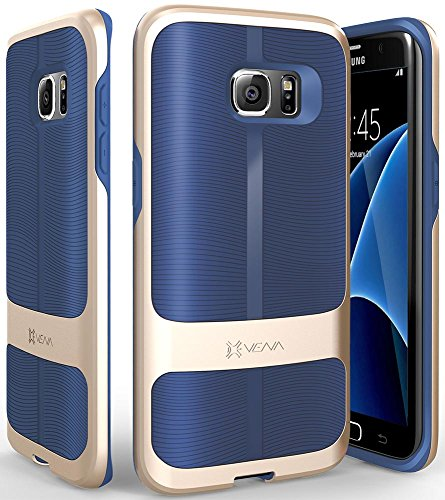 Vena Galaxy S7 Edge Coque,  vAllure  Vague Texture  Bumper  Frame  CornerGuard Shockproof   Sturdy Poignée  Mince Hybride Housse Étui  Cover Case pour Samsung ... 592113ba771d