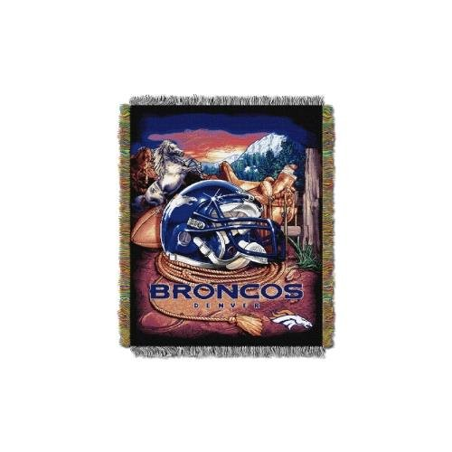 Woven Triple Layer Tapestry Throw (The Northwest Co NFL 051 Dolphins Helmet Woven Tapestry Throw Denver Broncos)