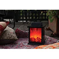 LED Fireplace Lantern Flame Effect Decorative Home Decor 21cm