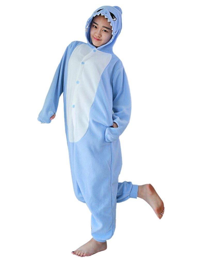 Fandecie Pijama Azul Claro Tiburón, Onesie Modelo Animales para adulto entre 1,60 y 1,75 m Kugurumi Unisex.: Amazon.es: Ropa y accesorios