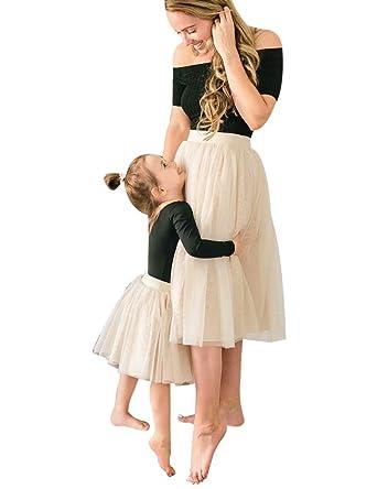 1b6a2c52f1456c 2 Pièces Robe Ensemble Famille Robe de Ballet pour Mère et Fille T ...