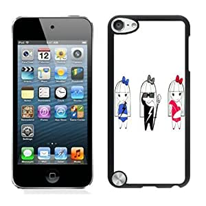 Beautiful DIY Designed With Cartoon Lady Gaga Cover Case For iPod Touch 5th Black Phone Case CR-110