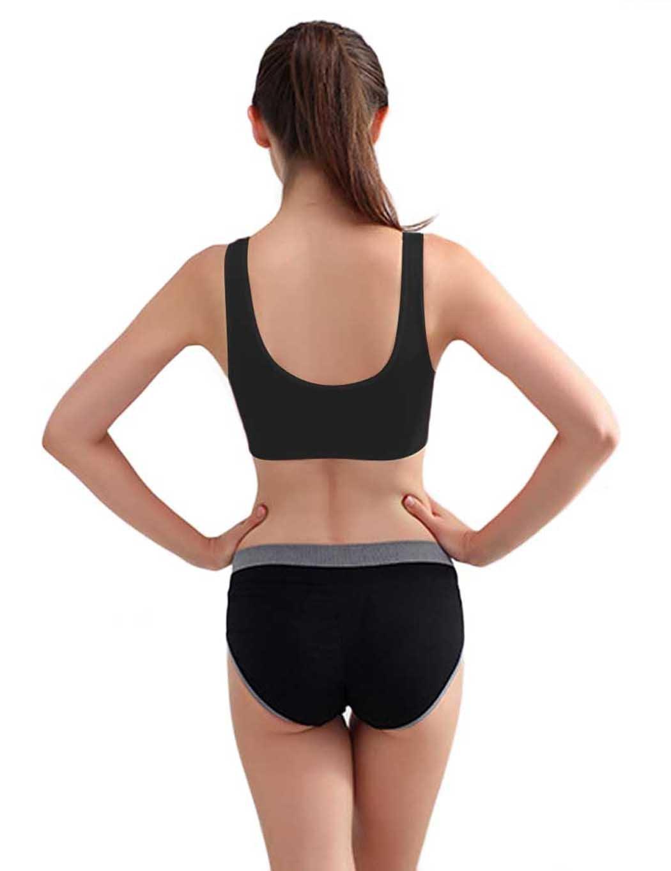 Yirind Women Seamless Stretch Yoga Sports Bra Wirefree Unpadded Full Coverage Workout Bras (S-4XL) Black