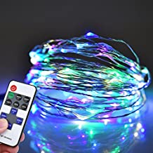 Amazlab T1R10, 10 meter/33 feet, Soft Copper Wire Twine Micro LED String Lights, 100 LED Bulbs Starry Indoor Outdoor Decorative Fairy Lights DC Powered Rainbow Colored