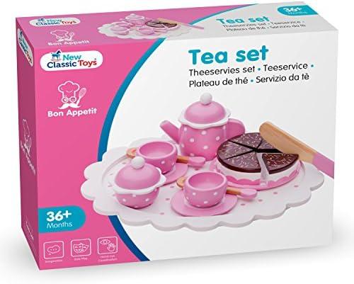New Classic Toys - 10620 - Kinderrollenspiele - Kaffee/Tee Service m. Kuchen