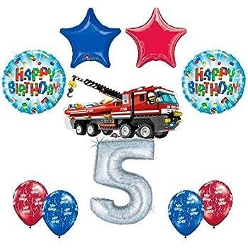 Amazon.com: 10 pc Lego City Bomberos Firetruck 5th fiesta de ...