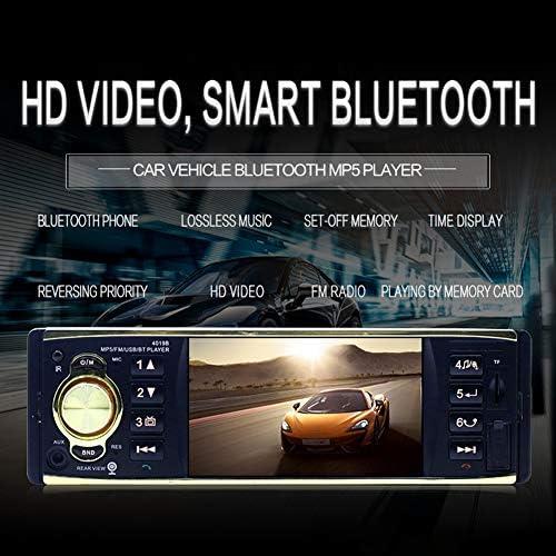 ETbotu 4.1インチ 車両 車 ラジオ MP5 プレーヤー 1 Din HD 800x480 Bluetooth FM/AUX/USB/TF ステアリングホイールコントロール リアビューカメラ