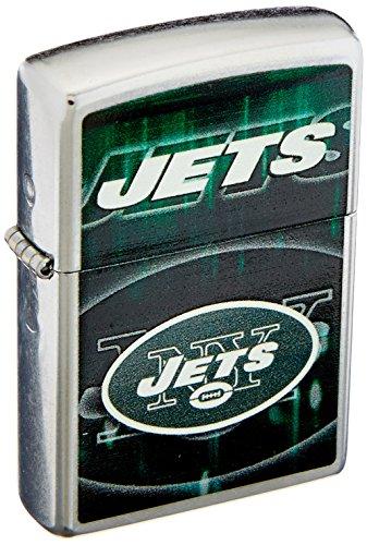 (Zippo NFL NY Jets Street Chrome Pocket Lighter)