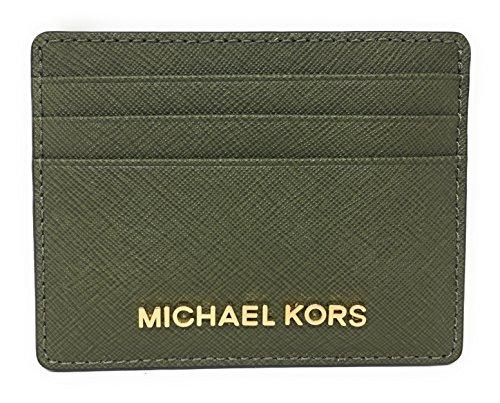 - Michael Kors Jet Set Travel Large Saffiano Leather Card Holder (Olive)