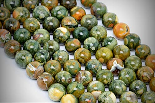 Approx.65 Beads Lot - 6mm Rainforest Rhyolite Beads Color Grade AA Round Loose Jewelry Making Beads 15.5
