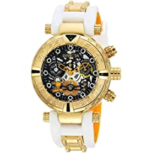 Invicta Women's 'Character Collection' Quartz Stainless Steel and Silicone Casual Watch, Color:Two Tone (Model: 24882)