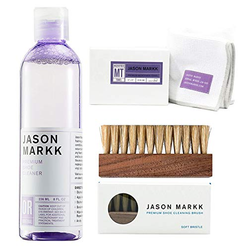 Jason Markk Premium Shoe Cleaner 236ml, Brush and Microfiber Cloth from Jason Markk