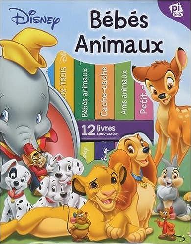 Lire en ligne Ma première bibliothèque bébés animaux de Disney : Coffret de 12 livres tout-carton pdf, epub ebook