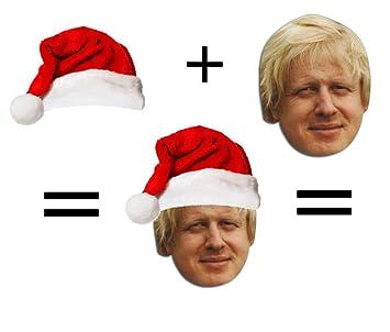 Christmas Boris Johnson Mask + Santa Hat Set