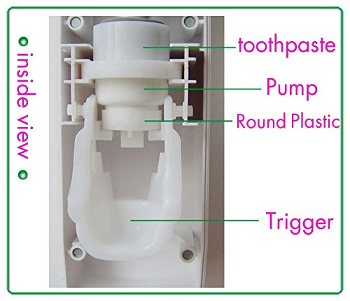 Ilifetech hands free toothpaste dispenser automatic toothpaste squeezer and holder set 5 brush - Keep toothpaste kitchen ...