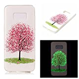Galaxy S8 Plus Case, Love Sound Luminous Noctilucent Glow in the Dark Case [Drop Protection] [Shock Absorbent] Flexible Soft TPU Shell Case for Samsung Galaxy S8 Plus (Cherry Blossom)