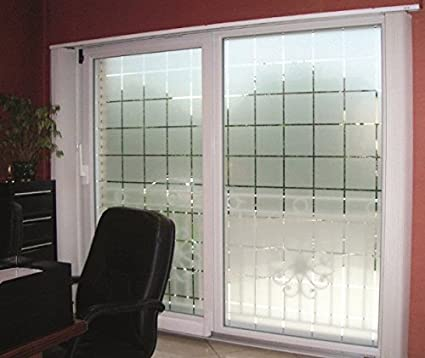 Active Film Patterned Decorative White Frosted Window Film - Privacy  Frosted Glass Film Large Block Pattern 1m x 76cm (30