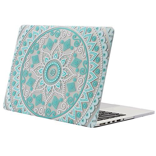 MOSISO Ultra Delgado Plástico Dura Funda Rígida Caso para MacBook Pro 13 Pulgadas con Pantalla Retina sin CD-Rom (A1502 / A1425, Versión 2015/2014/2013/fin 2012), Cuarzo Rosa Mandala de La Menta