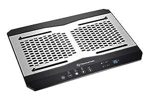 "Thermaltake Massive TM Aluminum Panel Dual 120mm Fans Adjustable Temperature Sensor 10""-17""  Laptop Notebook Cooling Pad CL-N002-PL12BL-A"