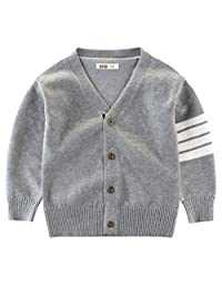 Jelord Baby Toddler Boy Knit Cardigan Button Sweater Jacket Outwear