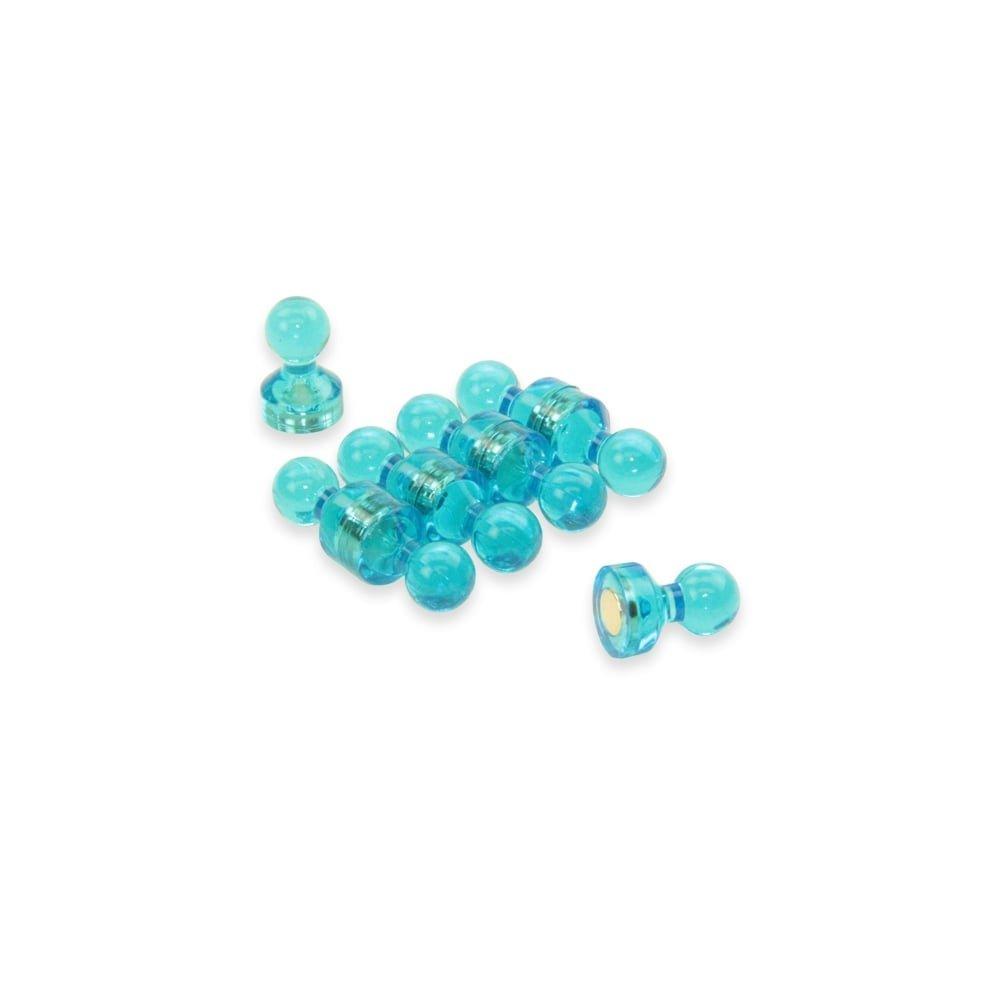 Magnet Expert® Petit bleu acrylique pousser épingle aimant, 11mm diamètre x 17mm grand, 1 pack de 10 11mm diamètre x 17mm grand Magnet Expert® F4M11-BU-1