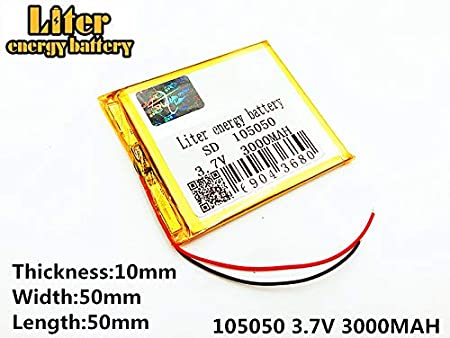 3.7V 1300mAh 102540 Lithium Polymer Ion Rechargeable Battery Lithium Polymer Li-Po Battery for MP4 GPS MP3 Bluetooth Stereo DIY Gift