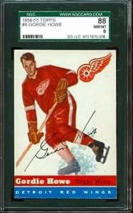 1954-55 Topps #8 - Gordie Howe - SGC 88 - Detroit Red Wings HoF