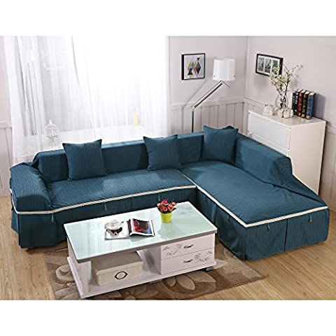 Vercart Full Coverage Seater Couch Sofa Slipcover Throw Covers Furniture Protector for Sofa 67x102x102 (Sofa Chaise Cover)