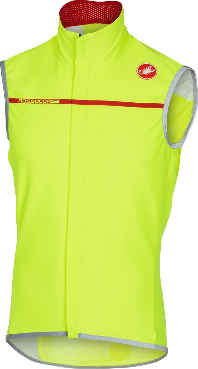 Castelli Perfetto Vest - Men's Yellow Fluo, L by Castelli