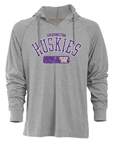 NCAA Washington Huskies Men's Long Sleeved Pullover Hoodie, XX-Large, Oxford