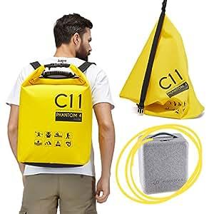 Backpack for DJI Phantom 4 / DJI Phantom 4 Pro / DJI Phantom 4 Pro+ Standard Yellow Waterproof Water Resistant Bag Rucksack Knapsack by C11
