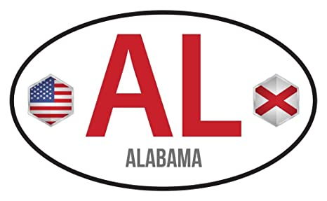 ALABAMA STATE FLAG VINLY DECAL STICKER MULTIPLE SIZES TO CHOOSE FROM